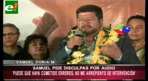 Samuel Doria Medina pide disculpa por el audio difundido