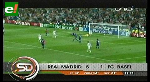 El Real Madrid hace una terapia de goles ante el Basilea