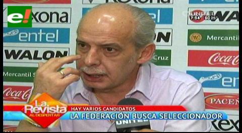 Bolivia pretende tener entrenador para amistosos contra Brasil y Chile