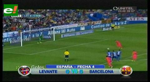 Levante vs. Barcelona: 'Azulgranas' golearon 5-0 y son líderes absolutos de la Liga BBVA