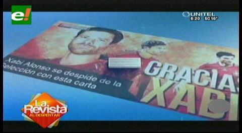 Xabi Alonso se marcha de la selección española