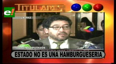 Titulares: Presidente de diputados pide la renuncia del candidato Jaime Navarro