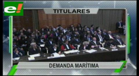 Titulares de TV: Comisión boliviana se alista para presentar su tesis del por qué debe volver al pacífico