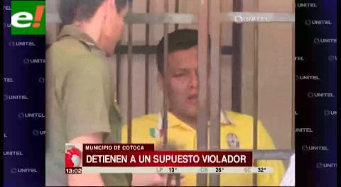 Capturan a supuesto violador en Cotoca