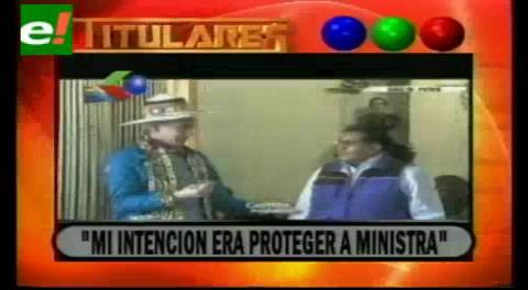 """Titulares de TV: García Linera: """" Mi intención era proteger a la Ministra no agraviarla"""""""