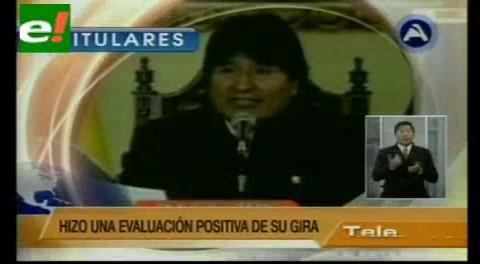 Titulares de TV: Evo Morales anunció nuevas inversiones de petroleras europeas en el país