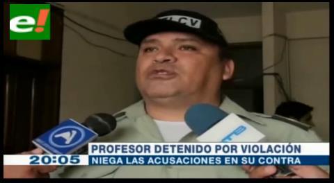 Detienen a profesor acusado de abuso sexual