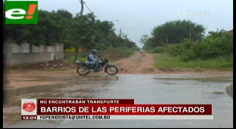 Barrios alejados perjudicados por falta de minibuses