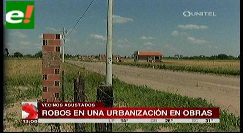 Múltiples robos en una urbanización en construcción