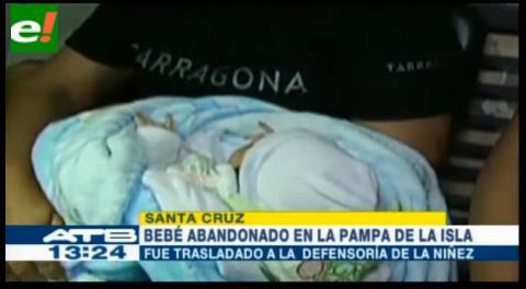 Encuentran bebé abandonado en la acera