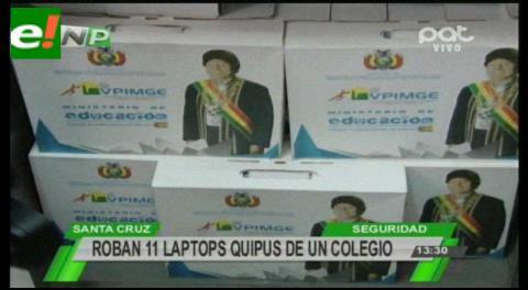 Roban 11 computadoras Quipus de un colegio