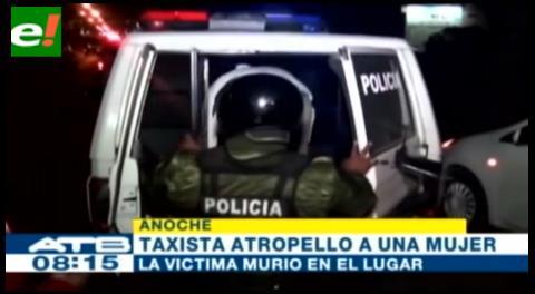 Taxista atropelló y arrastró 15 metros a una mujer