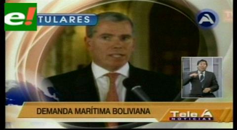 Titulares de TV: El agente de Chile ante la CIJ asegura que Bolivia tergiversa la historia común