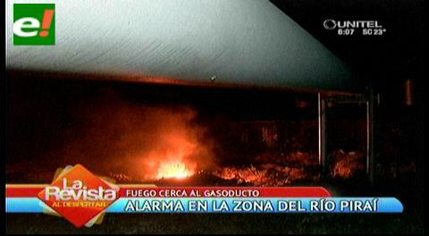 Incendio de pastizales alarma a vecinos del Piraí