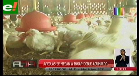 Avícolas se niegan a pagar el doble aguinaldo