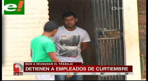 Detienen a empleados de curtiembre clandestina