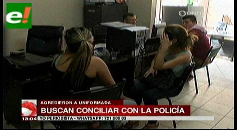 Mujeres que agredieron a policía están muy arrepentidas y buscan conciliación