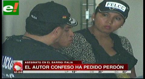 Autor confeso de crimen pide perdón y es enviado a Palmasola