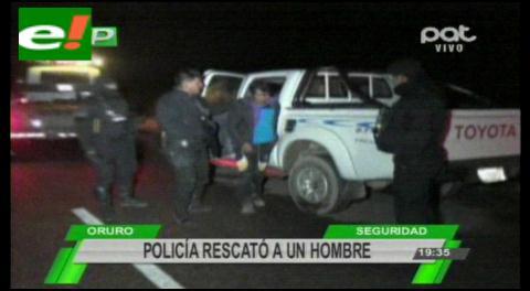 Policía rescata hombre secuestrado por narcotraficantes