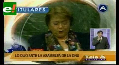 Titulares de TV: Bachelet abogó por el respeto a los Tratados Internacionales y el uso correcto de mecanismos de solución de controversias