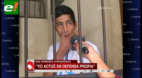 Joven acusado de acuchillar a una persona en Cotoca dice que fue en defensa propia
