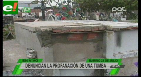Denuncian profanación de una tumba a días de la celebración de Todos Santos