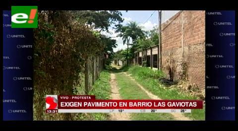 Vecinos del Barrio Las Gaviotas exigen pavimento