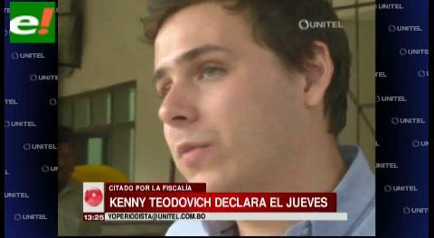 Kenny Teodovich deberá comparecer este jueves ante el Ministerio Público