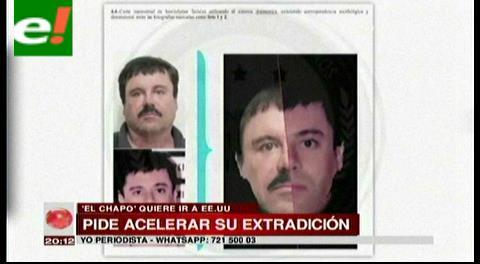El Chapo no aguanta el encierro en México y pide negociar con EE UU