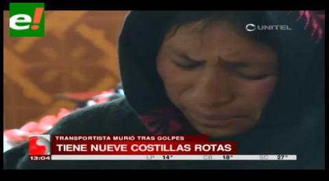 Familiares y amigos del chofer fallecido en Tambo Quemado piden justicia