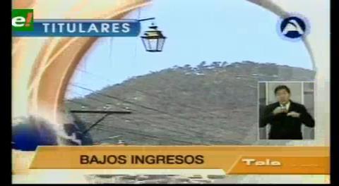 Titulares de TV: Gobernaciones de La Paz y Chuquisaca no pagarán el incremento salarial por falta de recursos
