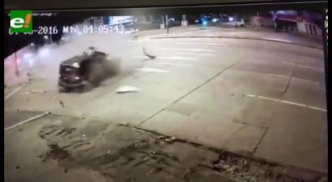 Video: Así fue el accidente en la avenida Virgen de Cotoca