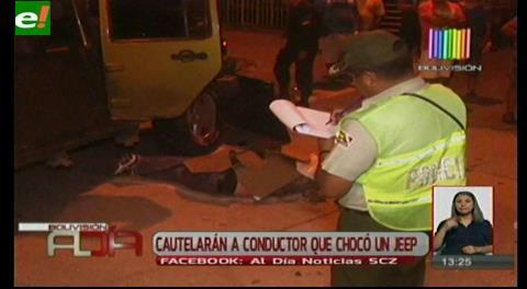 Cautelarán al conductor que colisionó con el jeep en la avenida Virgen de Cotoca