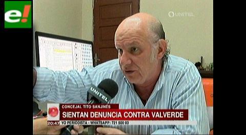 Concejal del MAS sentó denuncia contra Valverde