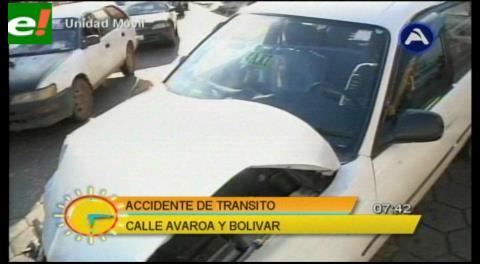 Accidente de tránsito en el centro de la ciudad