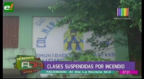 Suspenden clases en un colegio por incendio