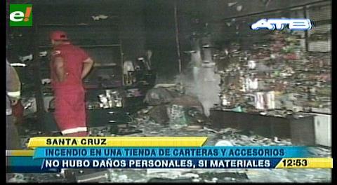 Incendio en una tienda de carteras en pleno centro