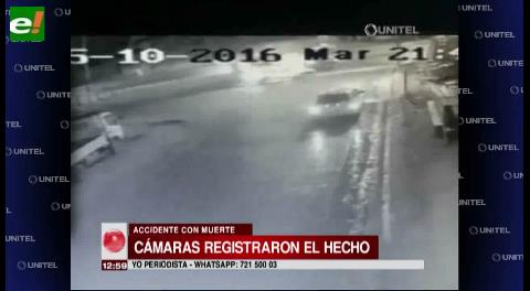 Video: Cámaras registran fatal accidente en Av. Virgen de Cotoca