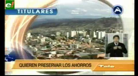 Titulares de TV: La ASFI intervino la Mutual La Paz por falta de gobierno corporativo