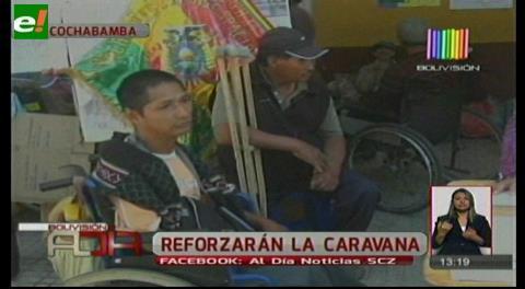 Desde Cochabamba reforzarán la caravana de discapacitados