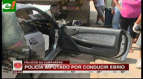 Policía imputado por conducir ebrio y causar la muerte de su camarada