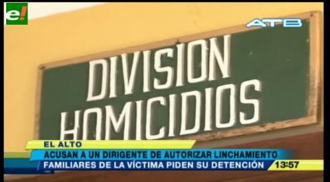 Piden la detención de dirigente implicado en el linchamiento de Carlos Llanos
