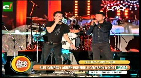 Alex Campos y Adrián Romero le cantaron a Dios