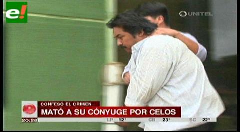 Feminicida confiesa que mató a su cónyuge por celos