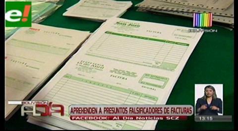 Presentan a falsificadores de facturas