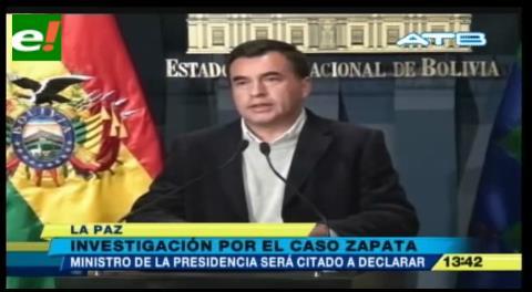 Fiscal General: Ministro de la Presidencia será citado a declarar por el caso Zapata