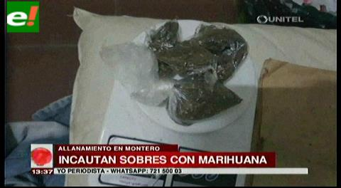 Incautan sobres con marihuana