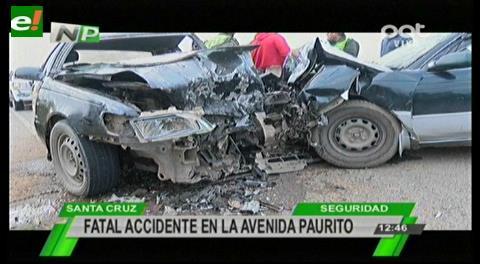 Fatal accidente en la avenida a Paurito