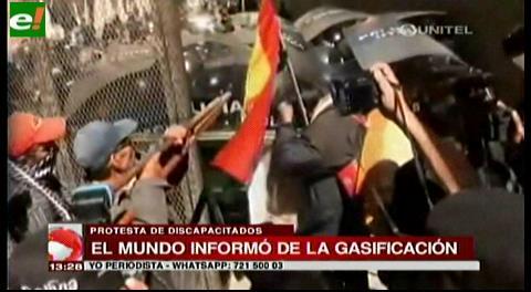 Medios internacionales informan sobre la gasificación en La Paz