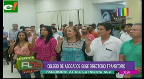 Colegio de Abogados elige directorio transitorio